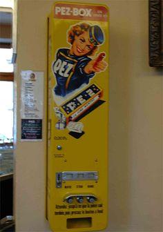 Pez vending machine.