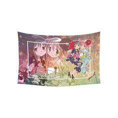 "Madoka Magica Cotton Linen Wall Tapestry 60""x 40"""