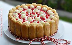 TORT CU IAURT SI FRUCTE - Rețete Fel de Fel Sweet Cakes, Tiramisu, Cheesecake, Deserts, Dessert Recipes, Food And Drink, Cooking Recipes, Vegetarian, Sweets