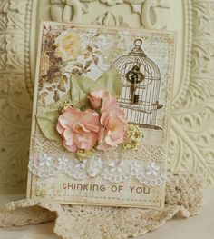 Beautiful Card Using Butterfly Garden Collection (Gypsy Chick for Pink Paislee)