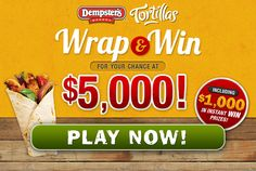 You could WIN! With Dempsters Instant Win Canada Real Food Recipes, Cooking Recipes, Pizza Maker, Win Free Stuff, Online Contest, Best Yet, Sounds Good, Burger King Logo, Check It Out