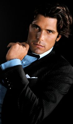 Love his eyes, lips, hair, jaw line.......Ignacio Figueras - Argentine polo player/Ralph Lauren Polo model
