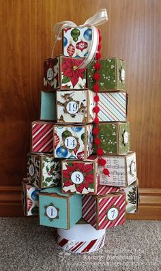 Kathryn's Stampin' World: CASE-ing the Catty Christmas Advent Calendar Tree - CTC58