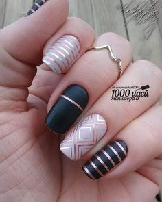 you should stay updated with latest nail art designs, nail colors, acrylic nails, coffin… Latest Nail Art, Trendy Nail Art, Fun Nails, Pretty Nails, Edgy Nails, Grunge Nails, Line Nail Art, Lines On Nails, Nails 2018