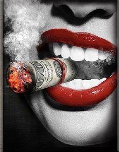 KingPinner BobbyGinnings Tattoo Lounge, Cigars, Lip Art, Chicano Art, Red Lips, Black Art, Airbrush, Portrait, Amazing Art
