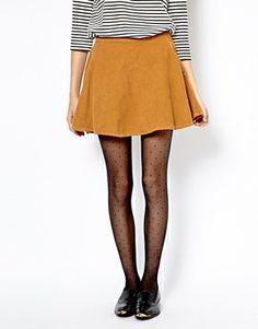 Image 4 ofAmerican Apparel Corduroy Skater Skirt