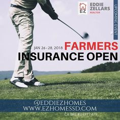 "JAN 26-28. With defending champion Jon Rahm, Phil Mickelson (three-time winner), Jason Day, Bubba Watson, and seven-time champion Tiger Woods. This is the 67th PGA tour that has been held in San Diego, beginning with the San Diego Open in 1952. The event includes ""authentic Cali food"" and vendors. The Torrey Pines Golf Course will also host the 2021 U.S. Open. . . . #EddieZHomes #EddieZellars #RealEstate #Realtor #SanDiego #SanDiegoRealEstate #SanDiegoRealtor #California…"