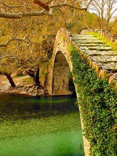 Ancient stone bridge, Epirus, Greece
