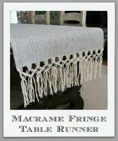 Fringe table runner