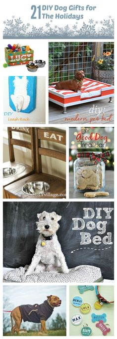 21 DIY Dog Gifts For the Holidays | http://www.thelazypitbull.com/21-diy-dog-gifts/