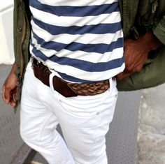 Stripes in blue