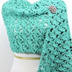 When you have such an outstanding lace stitch pattern, you just can't help but use it several times. I've used it in both a wrap and a throw. Both turned out wonderfully! It works up Prayer Shawl Crochet Pattern, Crochet Wrap Pattern, Crochet Blanket Patterns, Knitting Patterns Free, Free Knitting, Crochet Lace, Free Crochet, Knit Patterns, Free Pattern