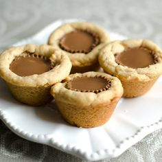 These peanut butter cup cookies are perfect for little hands and feature miniature reeses chocolates.