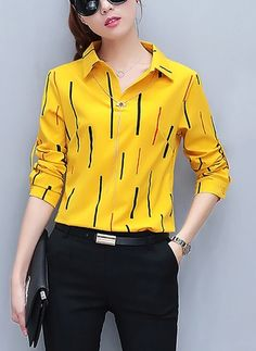 32 Colorful Shirts Blouses To Look Cool And Fashionable - Daily Fashion Outfits Casual Work Outfits, Classy Outfits, Trendy Outfits, Fashion Outfits, Look Fashion, Trendy Fashion, Trendy Tops, Classy Dress, Look Cool