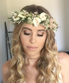 Fresh Flower Crowns Los Angeles, Flower Crown Bar for parties and events, flower crown station, Bridal Flower Crown, Malibu florist, Floral Crowns, Flower Crown