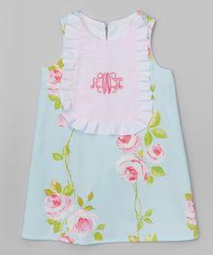 Pink Spanish Rose Monogram Shift Dress - Infant & Toddler 99.00 now 44.00