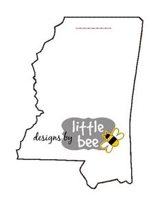 **THIS IS NOT A PATCH, SHIRT, OR A PHYSICAL ITEM.** This is a design to be used with an embroidery machine.  This is the listing for an adorable state of Mississippi key fob design in both my unique ribbon-looped style (4x4-friendly) and the longer snap tab version (5x7 and up). Make a special happy for yourself or that Mississippian in your life! This state key fob ALSO includes the tiny heart design that you can place anywhere you like inside the state using your embroidery software! Or…