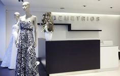 Reception desk, dresses, wedding dresses, shop, gowns