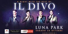 📢 ¡A Night With The Best Of @ildivoofficial! Sábado 28 de octubre @stadiumlunapark 💣 Entradas disponibles desde el 02/06 20 hs.