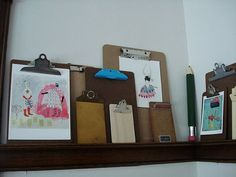 ok, i've got to start collecting those old wooden clipboards....never could decide what i could use them for...not now!