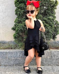 Girls Summer Dresses Types and Styles, Kids Casual Fashion for Girls to Wear in Summers Cute Little Girls Outfits, Kids Outfits Girls, Toddler Girl Outfits, Fashion Kids, Little Girl Fashion, Fashion Hub, Winter Fashion, Baby Girl Party Dresses, Dresses Kids Girl