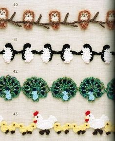 Free crochet diagrams for garlands
