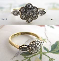 gorgeous unique antique engagement ring <3
