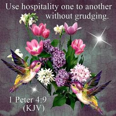 1 Peter 4:9 (KJV) Use hospitality one to another without grudging:, ecard