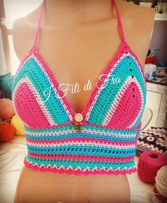 Crochet Top Outfit, Crochet Bikini, Bikini Tops, Bikinis, Outfits, Women, Fashion, Tejidos, Moda