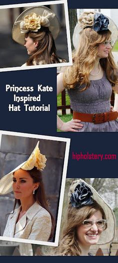 Pintopia Week 2 : Kate Middleton is known for her extensive hat collection. What better time to copy a princess than Easter? Queen Kate, Princess Kate, Fancy Birthday Party, Hat For The Races, Kate Middleton Hats, How To Make Fascinators, Derby Attire, Tea Party Hats, Diy Hat