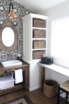Master Bathroom Renovation- How to achieve a farmhouse style bathroom- farmhouse style- bathroom- remodeled bathroom- farmhouse bathroom- cement tile- copper accents- farmhouse style- bathroom update- bathroom reveal- bath #remodelingbathroom
