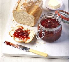 Make the most of fruit gluts and try making your own jam - delicious spread on homemade bread