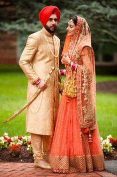 Harnoor And Ankur Wedding Photo By Photographick Studios Punjabi Wedding Couple, Groom Wedding Dress, Punjabi Couple, Punjabi Bride, Sikh Wedding, Wedding Dresses, Punjabi Suits, Anarkali Suits, Groom Wear