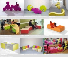 PLAY + furnitures for children - seats convertible