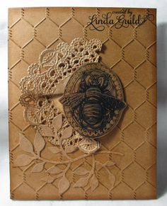 Nothin' Fancy: Antiqued Kraft Card With Bee