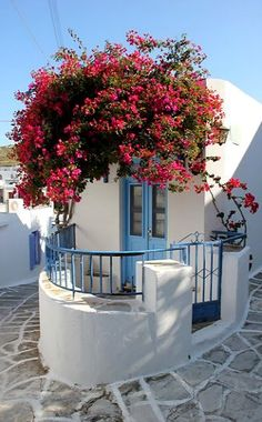 Lefkes village in Paros Island (Cyclades), Greece