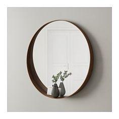 IKEA - STOCKHOLM, Spiegel, , Mit Sicherheitsfolie - so lässt sich das Verletzungsrisiko minimieren, falls das Glas zerbricht.Auf der Wölbung an der Spiegelunterkante haben Münzen, Uhr, Schmuck usw. Platz.Für Feuchträume geeignet.Die deutliche Holzmaserung im Nussbaumfurnier gibt jedem Produkt einen eigenen natürlichen Ausdruck.Nussbaumholz ist ein robustes Naturmaterial. Schutzlack auf der Oberfläche erhöht die Haltbarkeit.