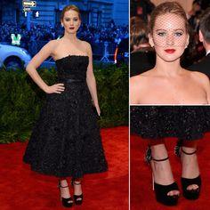 Jennifer Lawrence on Met Gala 2013 Red Carpet