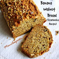 For your weekend baking project - BANANA WALNUT BREAD by STARBUCKS!