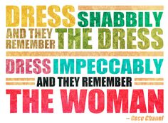 the dress vs. the woman