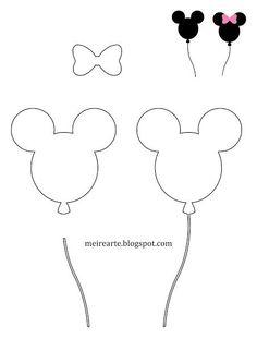 Meire Arte: Molde Cabeça da Minnie