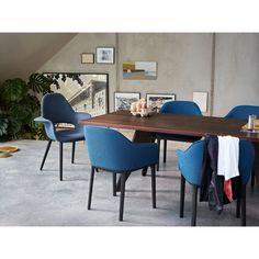 Matt Blue-Light Blue Softshell Chair Vitra