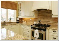 Kitchen Pantry Cabinet Ikea, Ivory Kitchen Cabinets, Granite Kitchen, Kitchen Backsplash, Granite Countertops, Cream Cabinets, Backsplash Ideas, Rustic Kitchen, Diy Kitchen