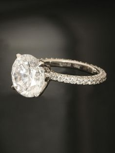 Michael B. Platinum Princess Collection Engagement Ring at London Jewelers!