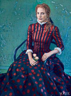 Jessica Chastain by Annie Leibovitz for Vogue US December 2013 - 3 Sensual Fashion Editorials   Art Exhibits - Anne of Carversville Women's ...
