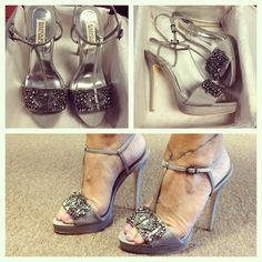 Wedding heels! Badgley mischka love :)