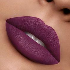 Plum Color Lipstick, Dark Lipstick Shades, Purple Lipstick Makeup, Violet Lipstick, Matte Lipstick, Lipsticks, Fair Skin Makeup, Lipstick For Fair Skin, Eyebrow Makeup