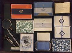 """""""What's on your correspondence table?  Splendid stationery from Grosvenor Stationery Company, Dempsey & Carroll, Bohemia Paper, Austin Press, Crown Mill, Flavio Aquilina.  Perfect for National Letter Writing Month & National Poetry Month"""".  Rural Residence, Hudson, New York. www.ruralresidence.com"""