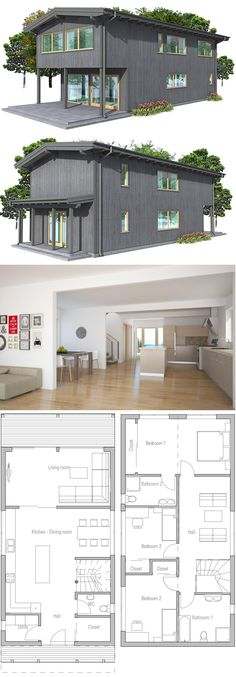 Planos de casas economicas casa cubo 72m2 6x6 qubichouse for Modern house 6x6