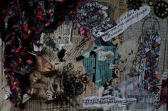 Keep on dreaming' original collage on a canvas by KeepOnDreamer, €35.00